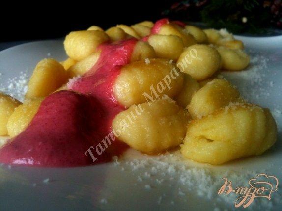 Рецепт Ньокки со свекольно-сырным соусом