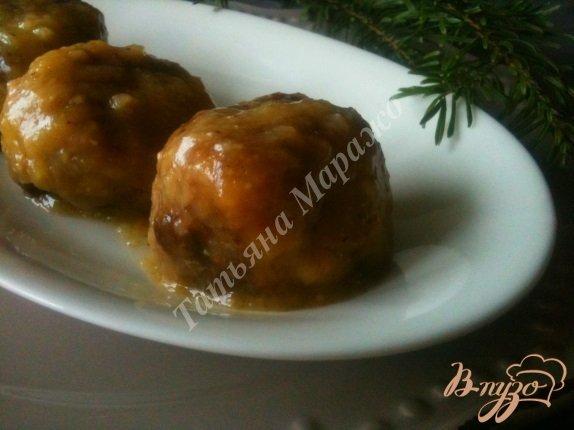 Рецепт Говяжьи тефтели в ананасовой глазури