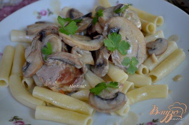 Рецепт Свиная вырезка в грибном соусе