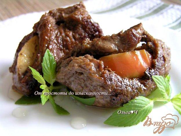 Рецепт Шницель с яблоком и мятным сиропом