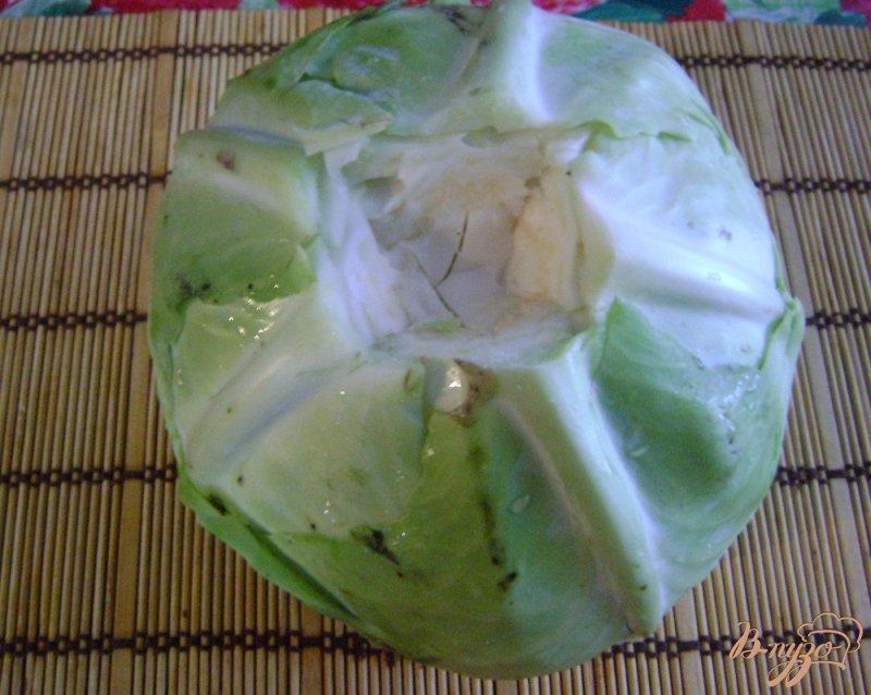 Фото приготовление рецепта: Голубцы на овощной подушке шаг №2