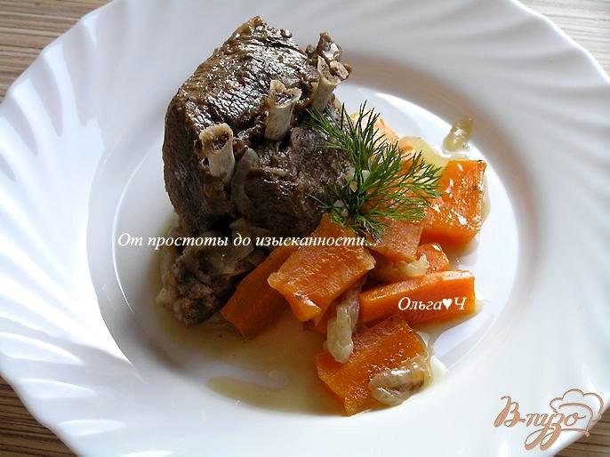 Фото приготовление рецепта: Баранина с морковью в мультиварке шаг №4