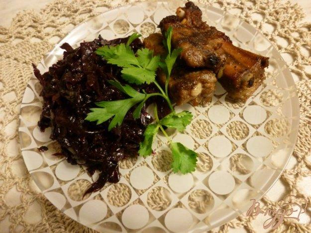 Рецепт Жареные свиные ребра с луком