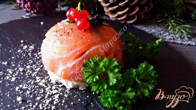 Рецепт Бомбочки из копченой семги с творожным муссом