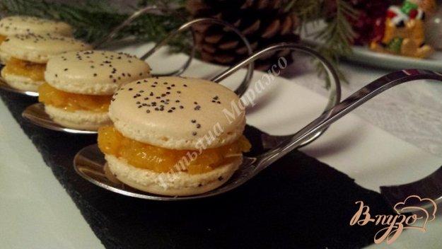 Рецепт Закусочные макарон с начинкой из манго и фуа-грой