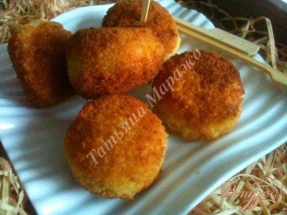 фото рецепта: Сыр в рисовой шубе