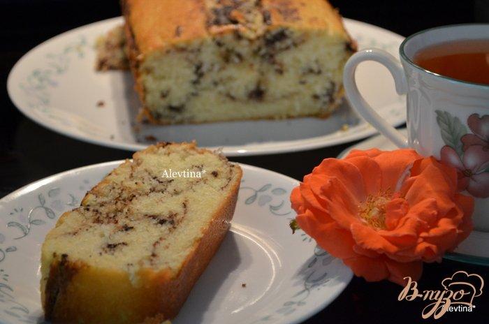 Фото приготовление рецепта: Мраморный кекс шаг №4