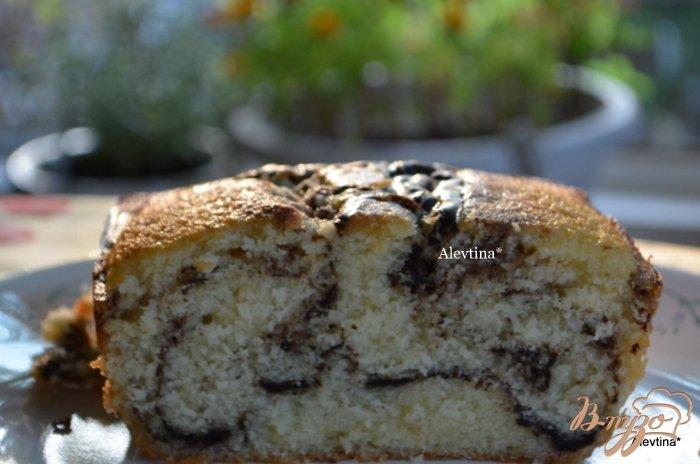 Фото приготовление рецепта: Мраморный кекс шаг №5
