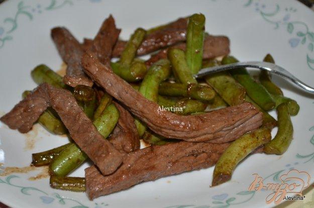 Рецепт Говядина в соевой глазури с зеленной фасолью
