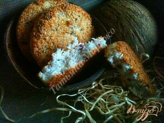Рецепт Кокосовое печенье с клюквой
