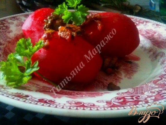 Фото приготовление рецепта: Отварной картофель с поджаркой из ветчины с каперсами шаг №4
