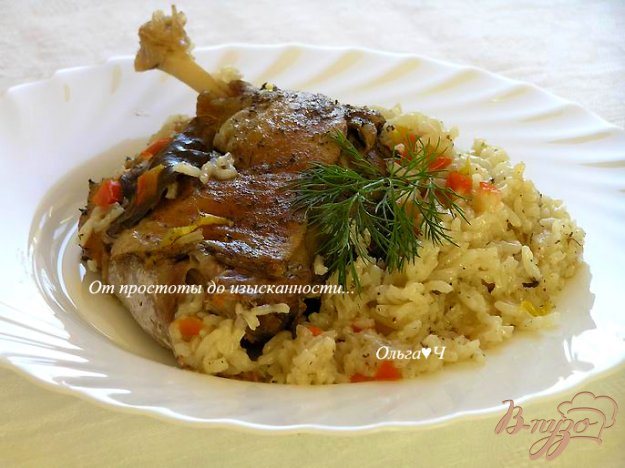 Рецепт Индоутка с рисом и овощами (в мультиварке)