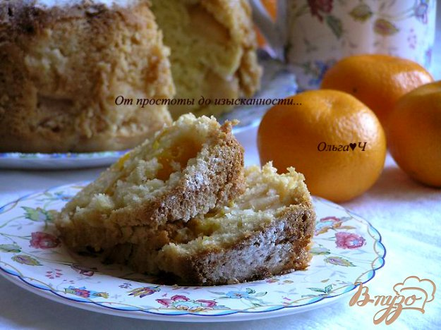 фото рецепта: Кекс с яблоками и мандаринами