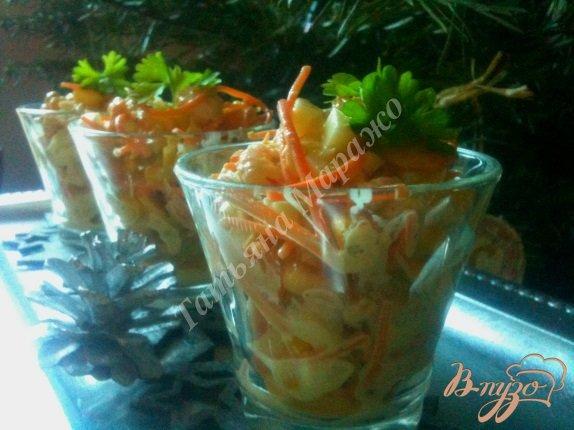 Рецепт Салат с креветками и белой спаржей