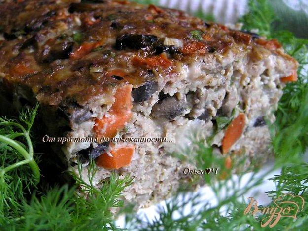 Рецепт Мясной террин с грибами, овощами и овсяными хлопьями