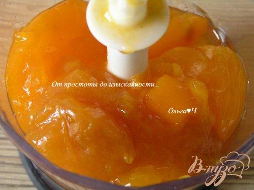 """Пирожное-суфле из хурмы с абрикосовым конфитюром """"Оранжевые облака"""""""