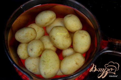 Молодой картофель с горчицей