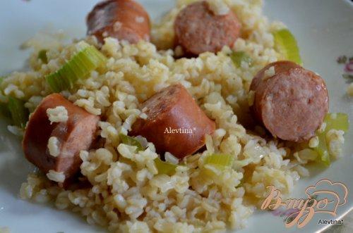 Рис с колбасками