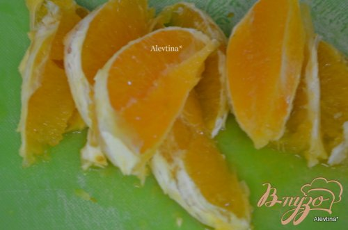 Говядина с апельсиновыми дольками