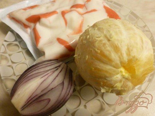 Салат из крабового мяса и апельсинов