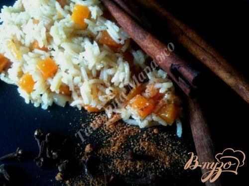 Пряный рис с тыквой
