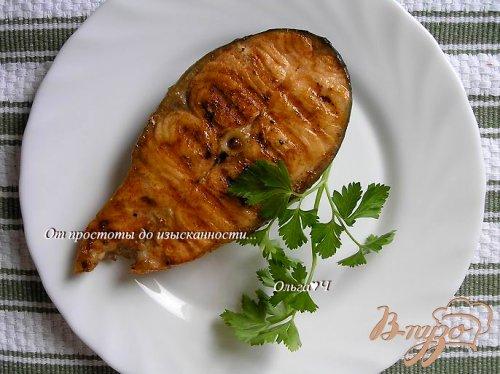 Лосось-гриль в соевом маринаде