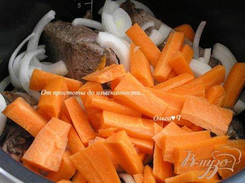 Баранина с морковью в мультиварке