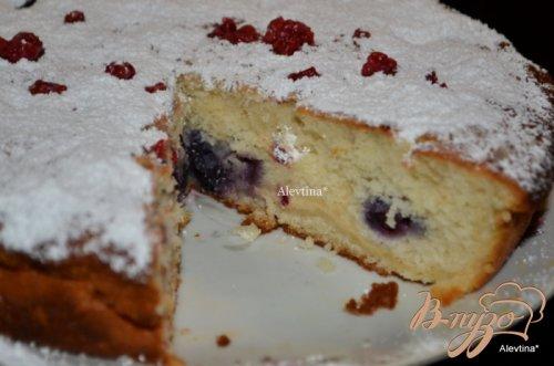 Лимонно-ягодный кекс