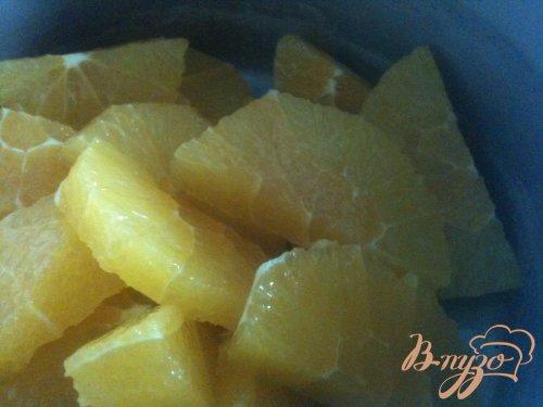 Бисквитный рулет с апельсиновым муссом