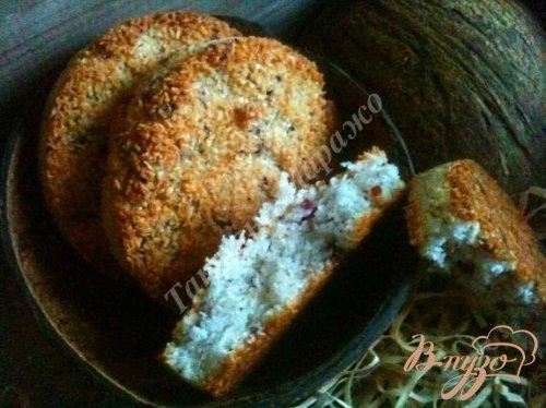 Кокосовое печенье с клюквой