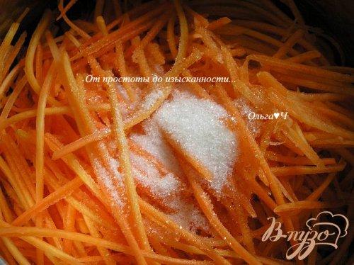 Теплый салат из моркови с фасолью