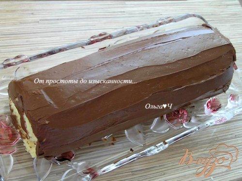 """Шоколадно-творожный рулет """"Рождественское полено"""""""