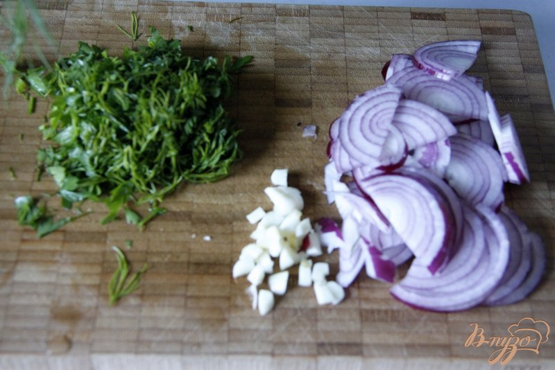 Фото приготовление рецепта: Салат из баклажанов «Баку» (вариант) шаг №2