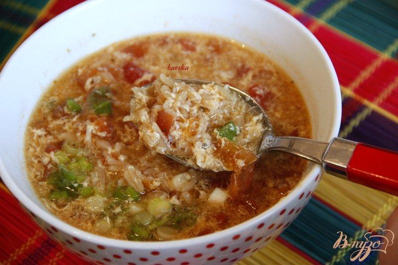 Фото приготовление рецепта: Китайский суп из томатов шаг №6