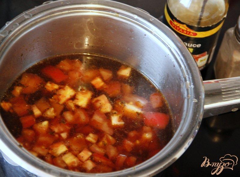Фото приготовление рецепта: Китайский суп из томатов шаг №3