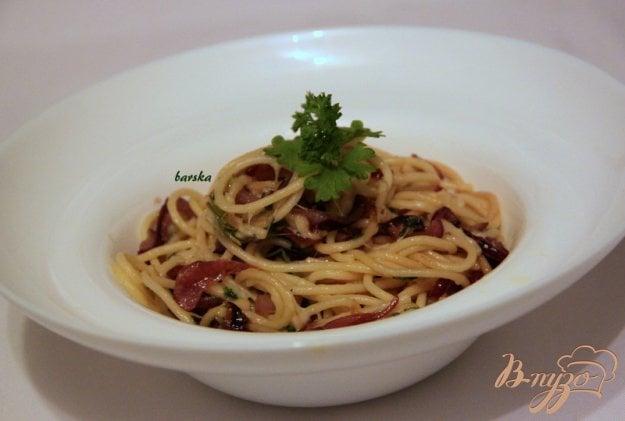 фото рецепта: Паста с карамелизированным луком