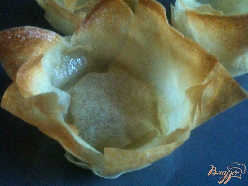 Фото приготовление рецепта: Овощной салатик в корзиночках из теста Брик шаг №3