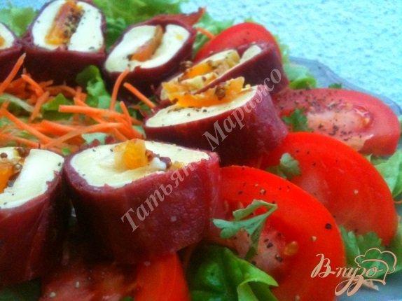 Рецепт Закуска из фаршированного сыра бри