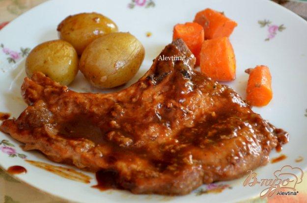 фото рецепта: Свиные отбивные в барбекю-соусе