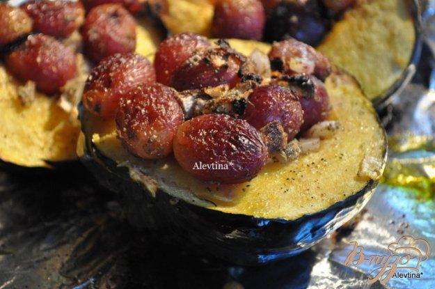 Рецепт Запеченный Акорн сквош с виноградом