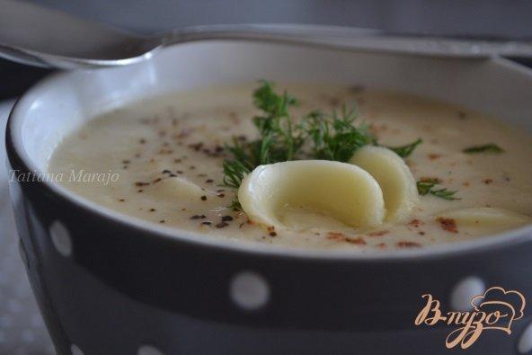 Фото приготовление рецепта: Суп-пюре из корневого сельдерея с сыром шаг №4