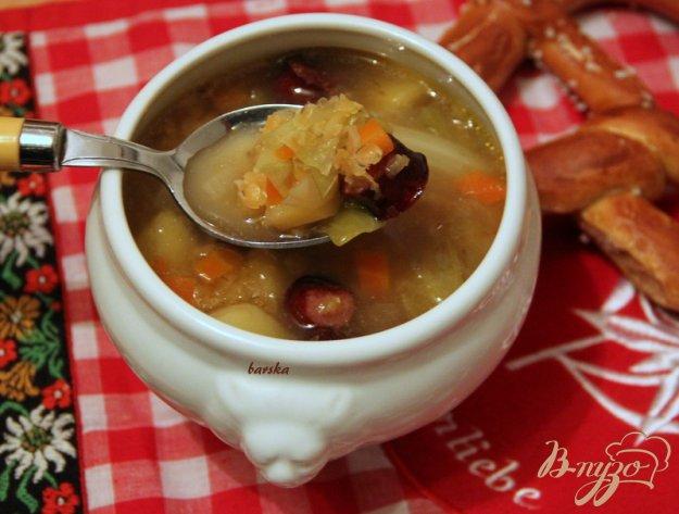 фото рецепта: Linseneintopf - густой суп с чечевицей