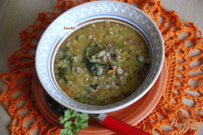Фото приготовление рецепта: Суп с чечевицей и шпинатом по мотивам  от Джейми Оливера шаг №6