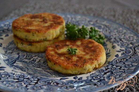 Рецепт Картофельные биточки с куриным мясом