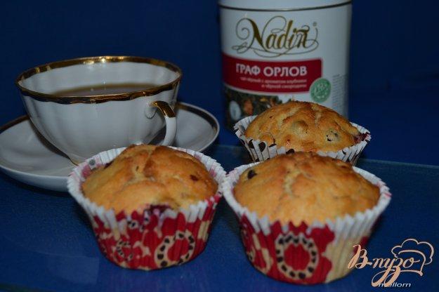 Рецепт Йогуртовые кексы с яблоком и клюквой