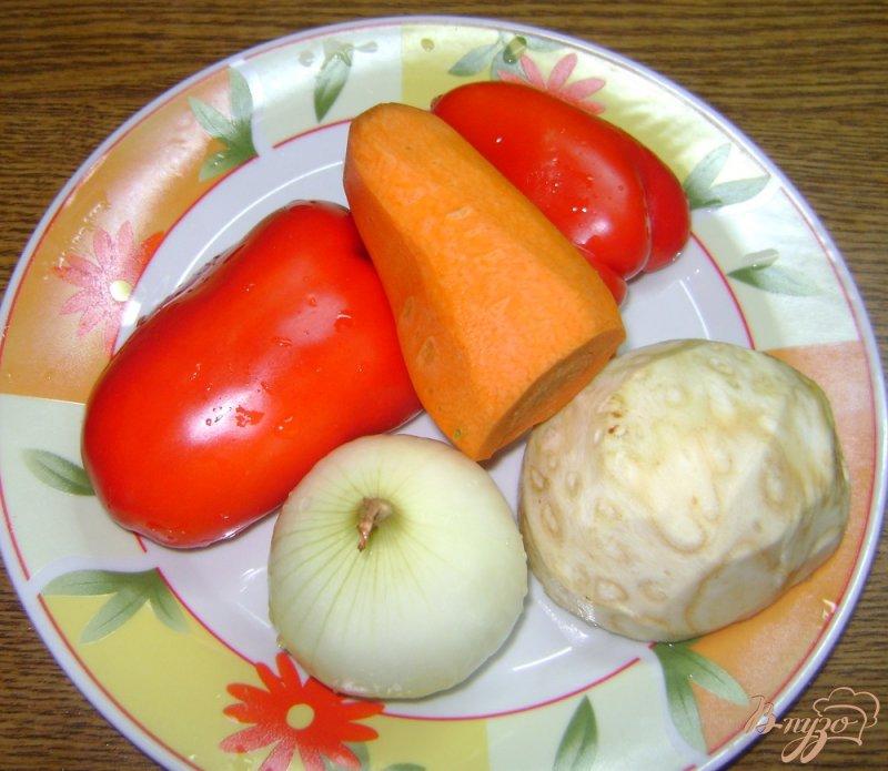 Фото приготовление рецепта: Суп с запеченными овощами шаг №2