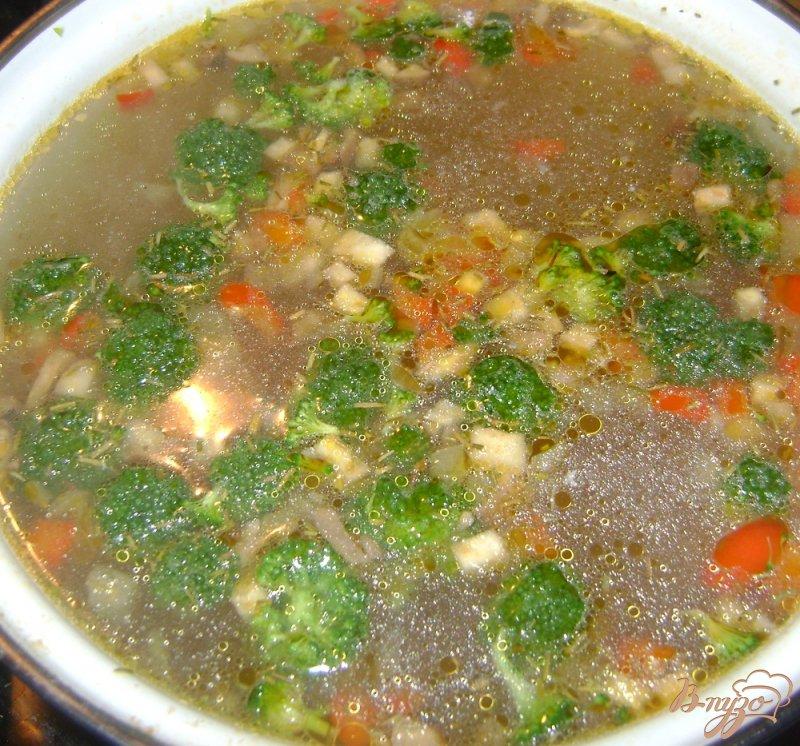 Фото приготовление рецепта: Суп с запеченными овощами шаг №5