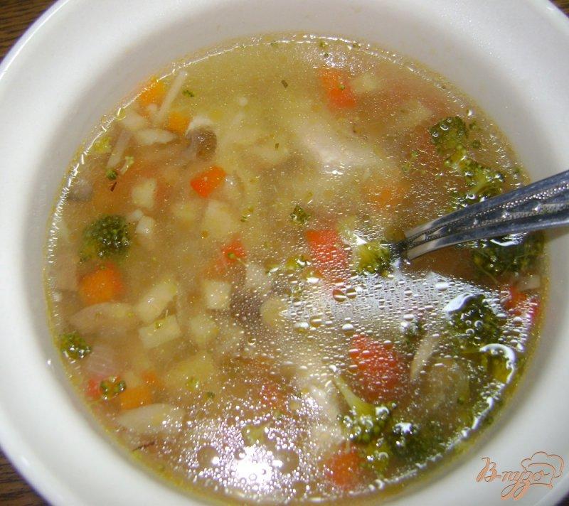 Фото приготовление рецепта: Суп с запеченными овощами шаг №6