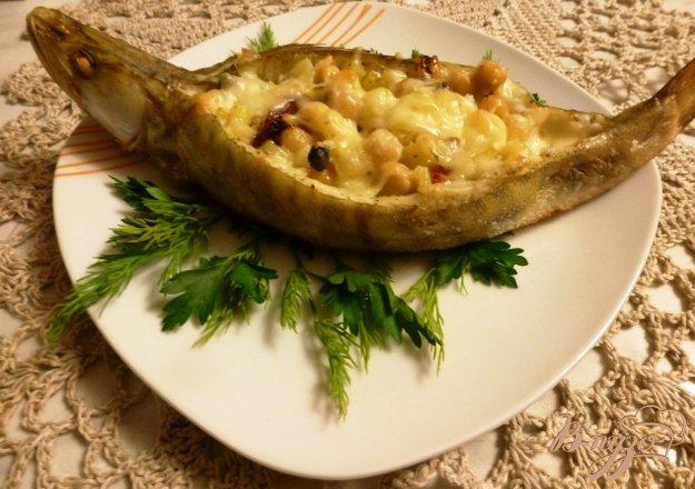 Рецепт Треска,фаршированная картофелем и нутом