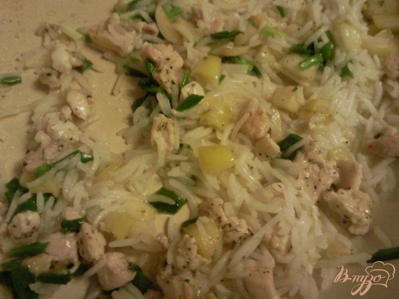 Фото приготовление рецепта: Свекла,фаршированная курицей с рисом и яблоком шаг №2